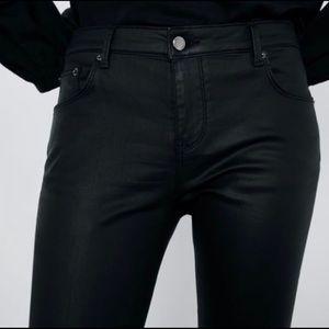 🔴 Zara Premium Skinny Patent Jeans